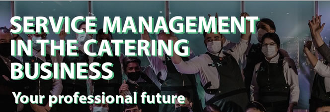 Service management in the catering business